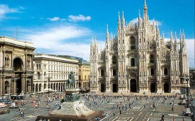 Главный собор Милана: пылающий мрамор на фоне итальянского неба