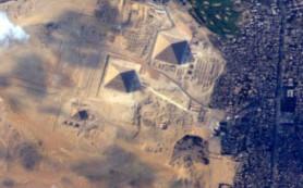 Член экипажа МКС сделал точный снимок Великих Пирамид Гизы из космоса
