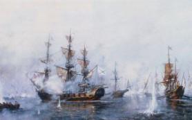245 лет назад русская эскадра уничтожила турецкий флот в Чесменском сражении