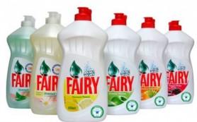 Виды средств для посуды Fairy