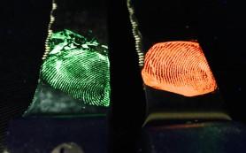 Новый метод дактилоскопии: светящиеся отпечатки пальцев