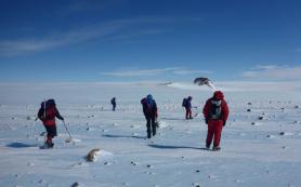 Российская экспедиция начала поиск метеоритов в Антарктиде