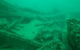 У берегов Крыма исследуют затонувший пароход
