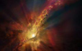 Ученые наблюдают сверхмассивную черную дыру, поглощающую холодный газ