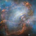 Снимок: «Хаббл» запечатлел «биение сердца» туманности Краба