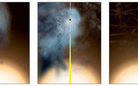 Российские и американские астрономы нашли почти «голую» черную дыру