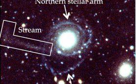 Богатая водородом, пассивная галактика