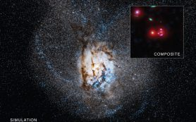 Космическая стройплощадка: Далекая галактика рождает звезды с огромной скоростью