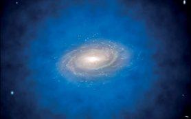 Задерживаемые внутри далеких галактик фотоны создают вокруг них гигантские гало