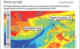 Атмосферные реки оказались причиной половины экстремальных погодных явлений