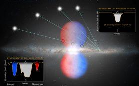 «Хаббл» помогает датировать последний крупный «обед» черной дыры Млечного пути