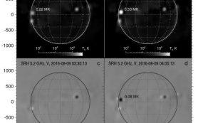 Первые результаты наблюдений Солнца при помощи Сибирского радиогелиографа