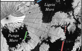Моря на Титане оказались спокойнее, чем предполагалось