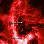 Космический филамент близ центральной черной дыры нашей Галактики