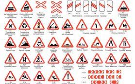 Какие виды дорожных знаков применяют в РФ