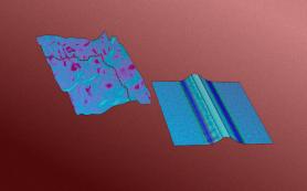 Искривленная подложка упорядочила полимерную пленку