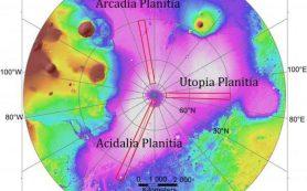 Новый метод позволяет составить карту молодых отложений льда на Марсе