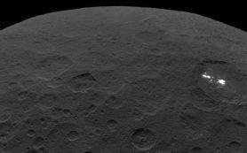 Ученые объяснили происхождение светлых пятен на поверхности Цереры