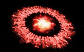 На месте гигантского взрыва сверхновой осталось неожиданно много пыли