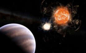 Астрономы обнаружили присутствие экзопланеты массой почти в 13 масс Юпитера