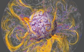Турбулентные потоки в ядре Земли объясняют «подергивание» ее магнитного поля