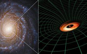 «Хаббл» открывает таинственный диск вокруг черной дыры