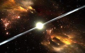 Одна из наиболее быстро вращающихся звезд Галактики испускает гамма-лучи