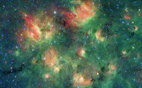 Спитцер обнаружил звездный регион, лопающийся от пузырей