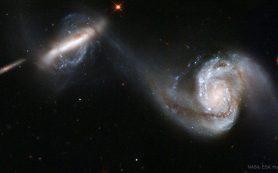 Слияния галактик приводят к вспышкам звездообразования, подтвердили астрономы