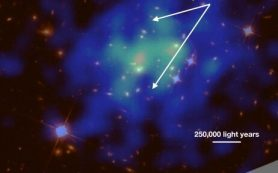 Астрономы описывают бурный выброс черной дыры