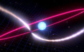 Пространство-время закручивается вокруг мертвой звезды, подтверждая прогнозы ОТО