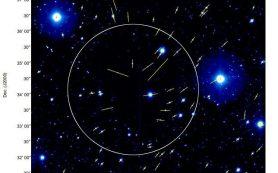 Наблюдения обнаруживают искажения магнитных полей в ядре протозвезды Barnard 335