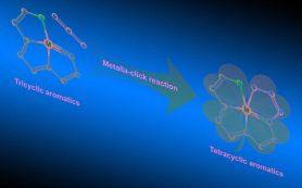 Химики скрутили четыре конденсированных ароматических кольца вокруг атома осмия