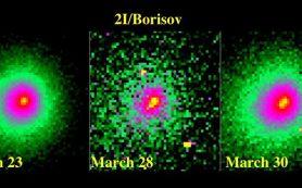 Комета родом из межзвездного пространства демонстрирует признаки фрагментации