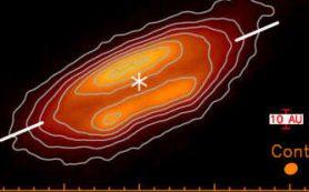 Поляризация света раскрывает структуру температурного поля околозвездного диска