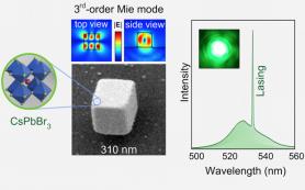 Перовскитную наночастицу превратили в лазер видимого диапазона