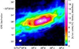 В галактике NGC 1482 обнаружен исходящий поток молекулярного газа
