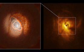 Протопланетный диск разорван на части тремя родительскими звездами