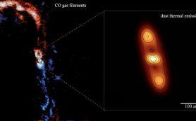 Протопланетный диск до сих пор питается из материнского облака