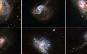 Шесть удивительно красивых столкновений между галактиками, запечатленных «Хабблом»