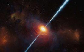Открыт самый далекий квазар с мощными радиоджетами, известный науке