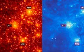 Галактики спутники могут формировать звезды проходят близко к своим родительским галактикам