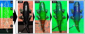 Робохамелеона замаскировали жидкими кристаллами